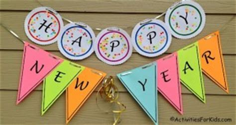 new year banner craft december crafts and activities for