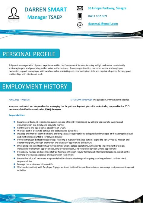 Smart Resume by Darren Smart Resume