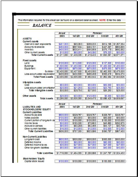 corporate balance sheet template corporate analysis balance sheet for excel excel templates