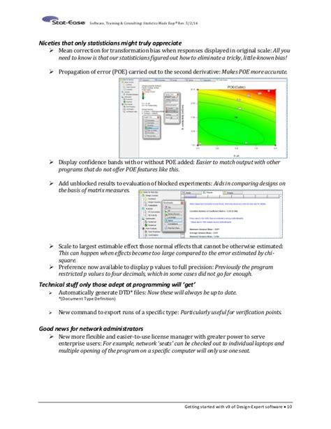 design expert software version 10 design expert 9 tutorials 2015