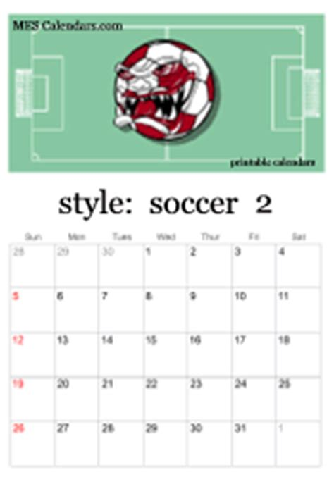 printable soccer calendars personalized soccer calendars  print  sports theme calendar maker