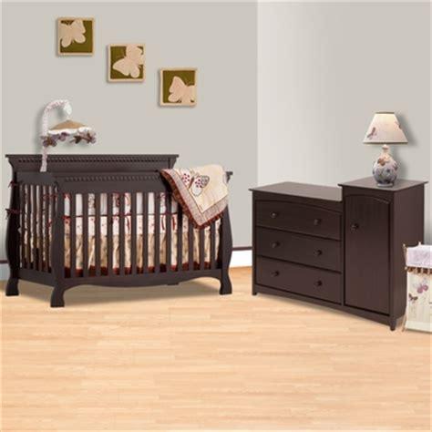 Crib Dresser Combo by Storkcraft Espresso Venetian 4 In 1 Convertible Crib And