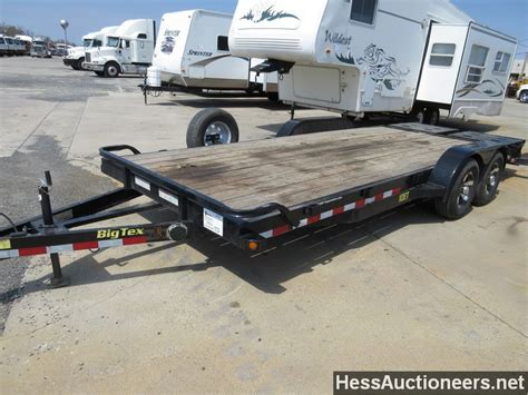 flat bed trailers for sale used 2016 big tex 24 flatbed trailer for sale in pa 23506