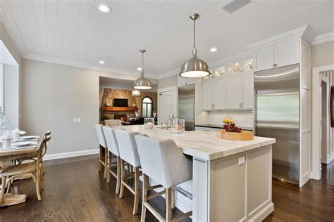 white kitchen island with seating the white kitchen perfected wall township new jersey by