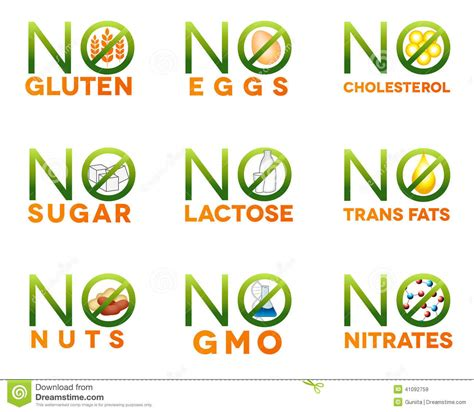 gmo food health effects gluten free diet with nutrition food intolerance icons stock vector image 41092759