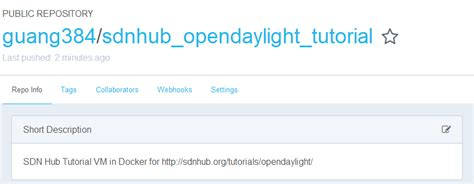 docker tutorial stackoverflow docker容器打包成镜像 opendaylight官方 sdn hub tutorial vm 的docker