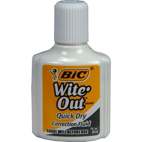 Out White bic wite out wofqd1 white correction fluid