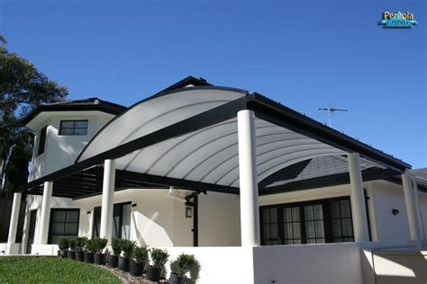 style ideas pergolas pergolas colorbond curved roof