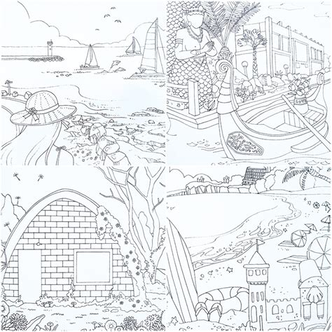 Nature Coloring Book Buku Mewarnai jual jeju island coloring book buku mewarnai buku gambar stationery unik