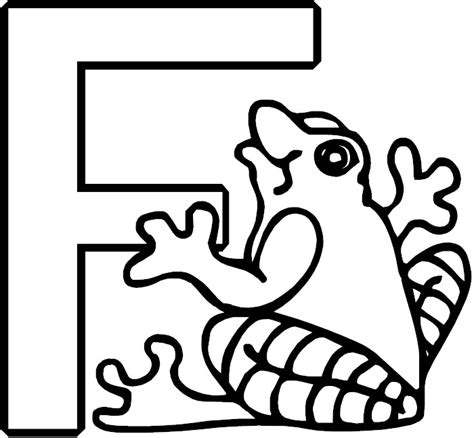 coloring page for the letter f letter f alphabet coloring page