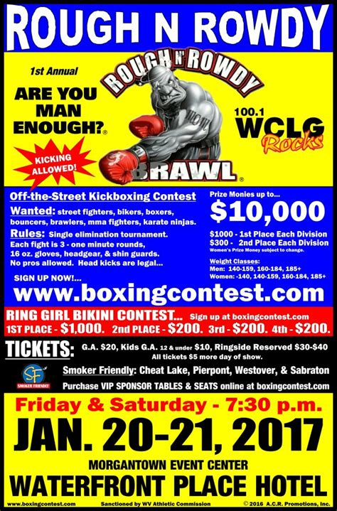 rough n rowdy rough n rowdy brawl morgantown wv jan 20th 21st