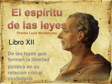 montesqueiu el esp 237 ritu de las leyes libro xii