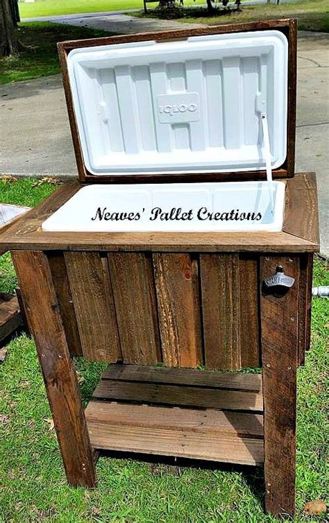 pallet wood cooler pallet ideas recycled upcycled pallets furniture projects