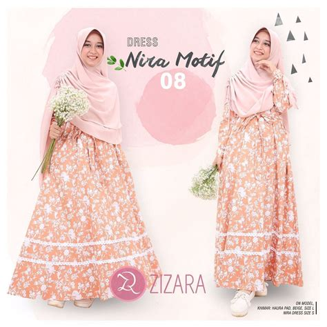 baju tunik by sheen collection 100 original gamis zizara nira motif 08 baju muslimah busana muslim
