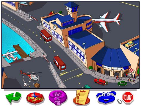 emuparadise scummvm let s explore the airport with buzzy cd windows game