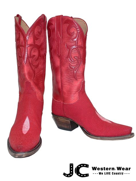 s lucchese classic imperial stingray skin boots