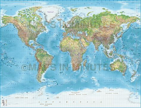 world map images high resolution digital vector political world map with relief terrain