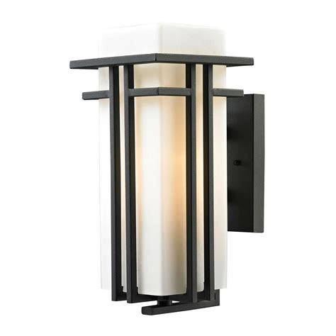 Home Depot Bluffton by Feiss Bluffton Collection 1 Light Rubbed Bronze
