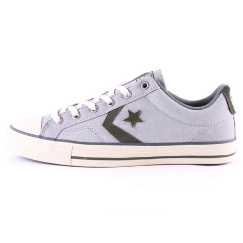 Converse Player Gray converse player ox unisex trainers in grey