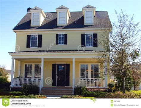 Small Home Decorating Blogs Yellow Cape Cod Style Dream Home Stock Photos Image 1976663