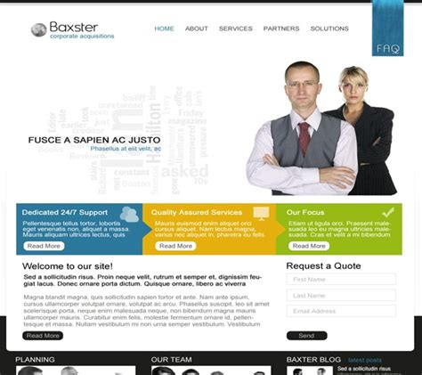 simple business website templates best photos of crisp clean design website template adobe