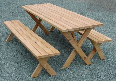 how to build a picnic table bench picnic table with detached benches treenovation