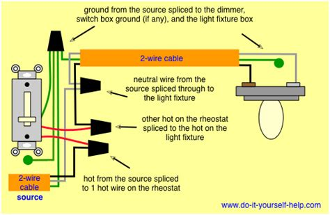 circuit switch dimmer light fixture wire diagram circuit