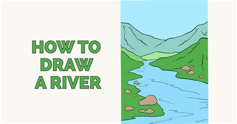 how to draw a scenery boat in river draw river www imagenesmy