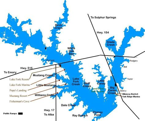 map of lake fork texas lake fork maps