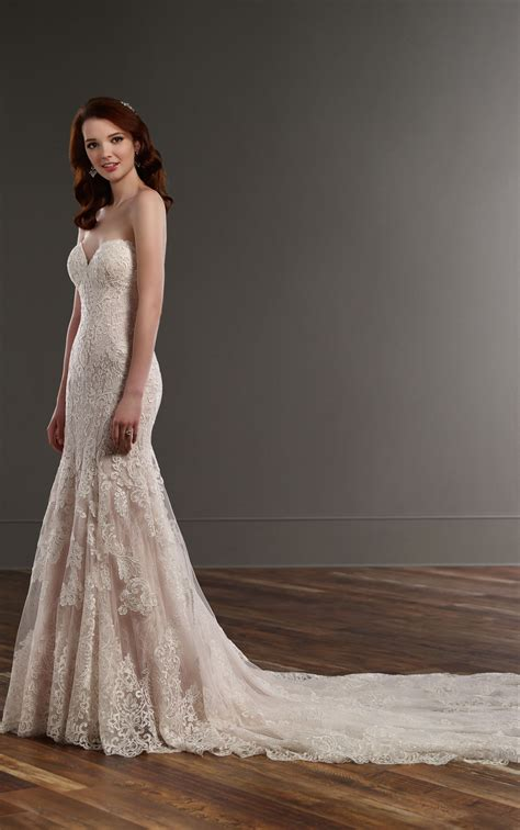 strapless fit  flare wedding dress martina liana