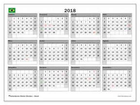 Calendario 2018 Brasil Feriados Calend 225 Para Imprimir 2018 Feriados P 250 Blicos No