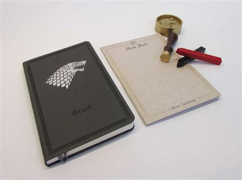 outlander deluxe stationery set books of thrones house stark deluxe stationery set book
