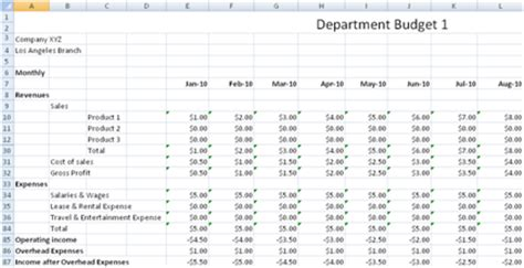 department budget template hr planning spreadsheet calendar template 2016