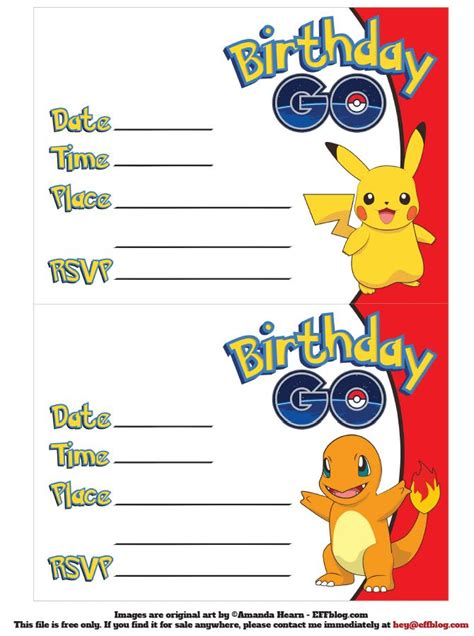 pikachu birthday card template http theecofriendlyfamily 2016 07 go free