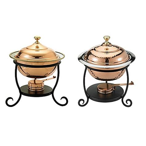 chafing dish bed bath and beyond old dutch international round chafing dish in copper bed bath beyond