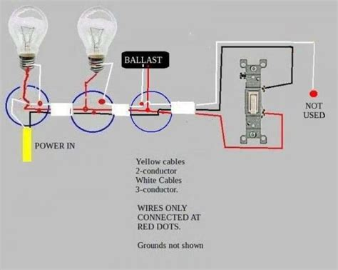 Wiring A Light Fixture Wiring Fluorescent Lights In Series Diagram Efcaviation