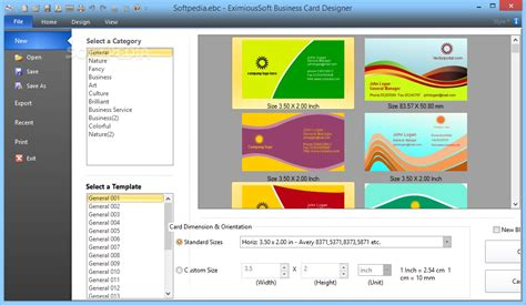 Eximioussoft Business Card Designer Free