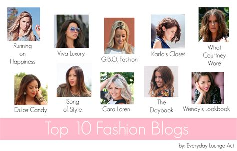 Top Blogs by Marissa S Top Ten Fashion Busy Being