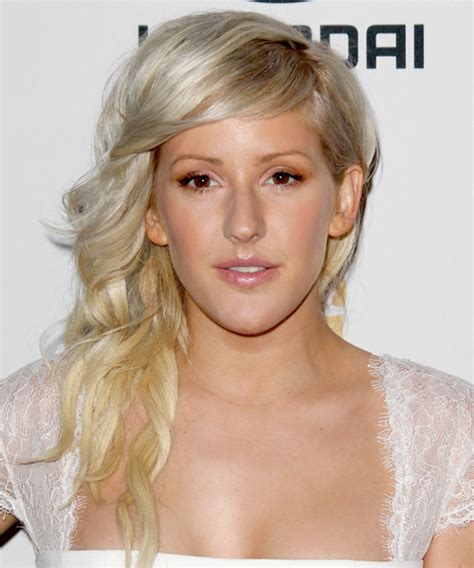 Ellie Goulding Hairstyle by Ellie Goulding Wavy Formal Hairstyle Light