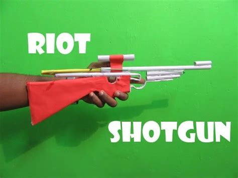 How To Make A Paper Shotgun - how to make a paper poweful riot shotgun easy tutorials