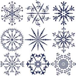 snowflakes template winter free stock vector illustrations eps ai