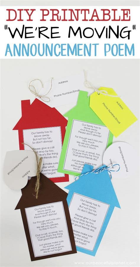 free printable moving postcards printable moving announcements with free poem free poems