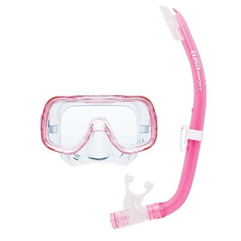 Tusa Mask Snorkel Mini Kleio Youth Combo Uc 2014 Cgr Diving Snorkeling tusa sport mini kleio youth mask and snorkel combo