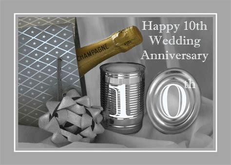 Wedding Anniversary 10th by 10th Wedding Anniversary Greeting Card 709122 Moggies