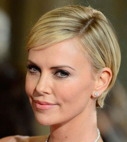 short old fashioned haircuts charlize theron sporting an 8 short hairstyles the celebrity way