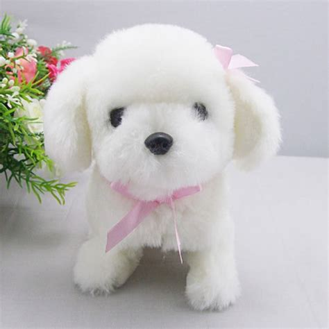 baby puppy walking plush bow baby puppy with sound evtoys