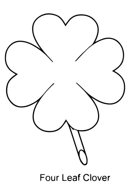 4 H Clover Coloring Pages by Clover Coloring Page Four Leaf Clover Coloring Pages