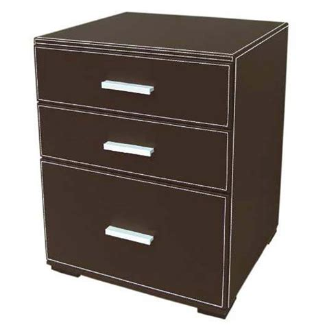 Commode Simili Cuir meuble commode 3 tiroirs en simili cuir