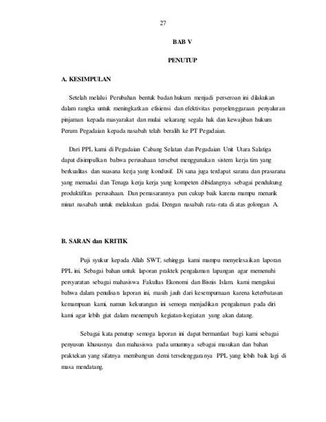 laporan ppl contoh