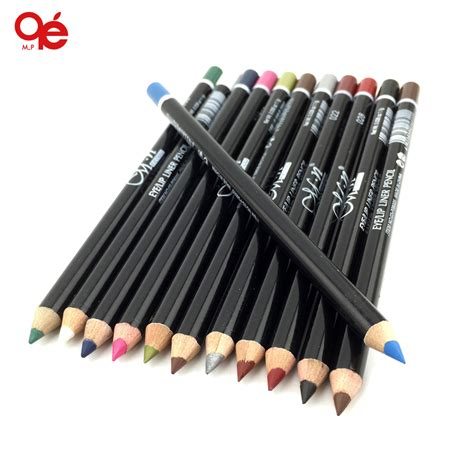 Eyeliner Make Pencil 12 colors eye make up eyeliner pencil waterproof eyebrow pen eye liner lip sticks